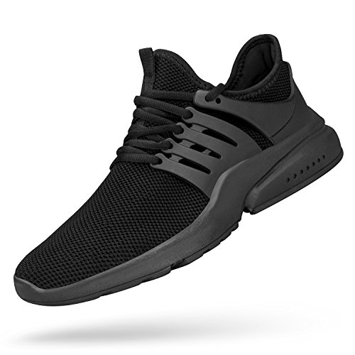 Feetmat Men's Non Slip Work Shoes Lightweight Breathable Athletic Running Walking Tennis Gym Sneakers Black 10 M