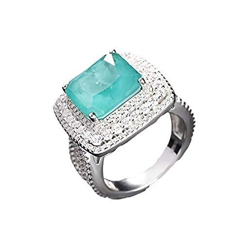Luxury! Original Design Ring, High Imitation Paraiba Tourmaline Ring, Tourmaline Ring, Silver Ring, Cubic Zirconia Ring, Anniversary Gifts