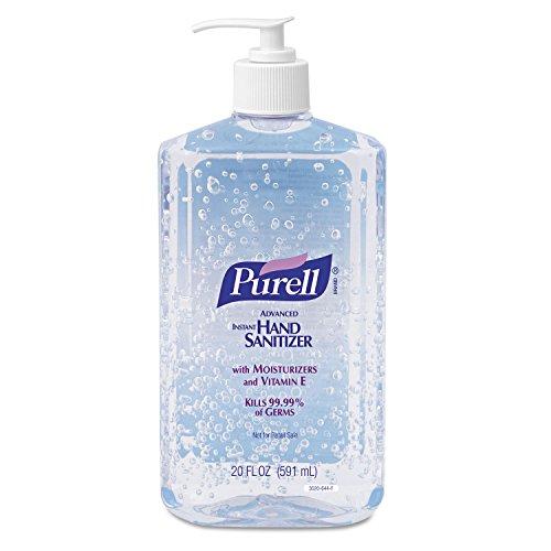 PURELL 302312EA Advanced Instant Hand Sanitizer, 20oz Pump Bottle