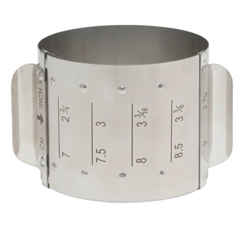 HIC Harold Import Co. Adjustable Food Ring, Square, 18/8 Stainless Steel, Adjusts to 4 Different Sizes
