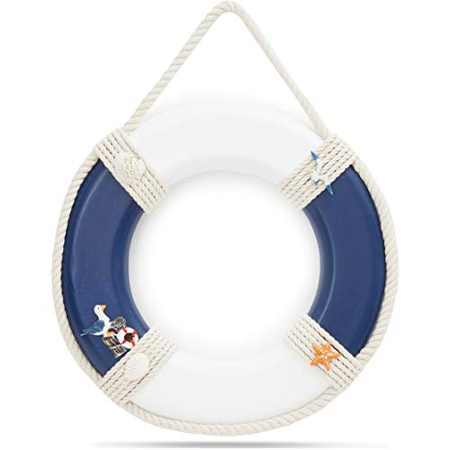 Juvale Life Preserver Ring Decoration, Nautical Wall Decor (11 x 11 in)