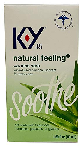 K-Y Natural Feeling Personal Lubricant Gel with Aloe Vera, Water Based & Free from Harmful Chemicals, 1.69 Ounce (3 Boxes)