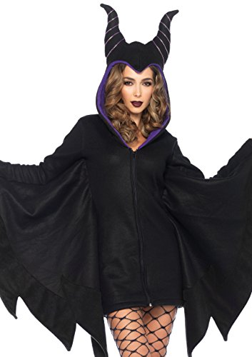 Leg Avenue Women's Cozy Villain Costume, Black, Medium