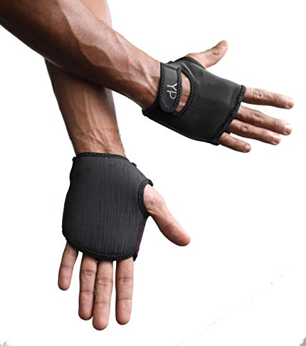 YogaPaws Elite Padded Anti Slip Grip Gloves for Women and Men for Yoga, Power Yoga, Pilates, Cycling, Crossfit, Outdoor Exercise, Weight Training and for Sweaty Hands