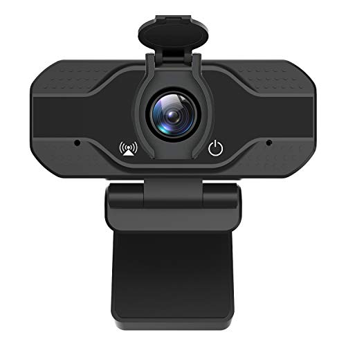 PC Webcam with Microphone& Cover,Firstrend Full HD 1080P USB Live Streaming Web Camera for Laptop Desktop Computer Recording Video Conference Calling Gaming with Mic 120-Degree View Angle Plug&Play
