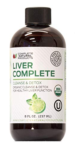 Liver Complete 8oz - Organic Liquid Liver Cleanse & Detox Supplement for High Enzymes, Fatty Liver, & Liver Support