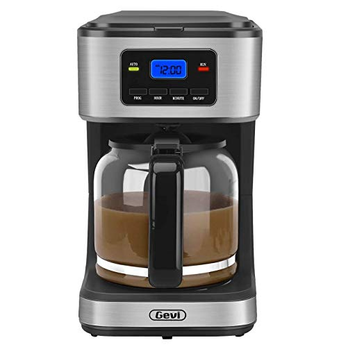 Coffee Maker,12 Cup Programmable Coffee Brewer, Mini Coffee Machine with Auto Shut-off and keep warming plate, Black