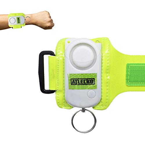Atlecko Personal Safety Alarm 140DB Runners, Men, Women, Kids, Elderly - Loud Siren Sound +300M Emergency, Self-Defence, Security, Panic, Rape Attack for Running, Walking, Cycling - High Visibility
