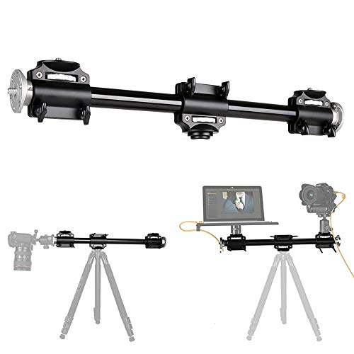Fotoconic Horizontal Tripod Arm, 3/8 Screw Support Tripod Extension Bar Stand for Camera, Professional Photography Studio, Ball Head and Quick Release Plate are NOT Included