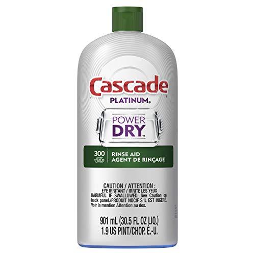 Cascade Platinum Dishwasher Rinse Aid, 30.5 fl oz