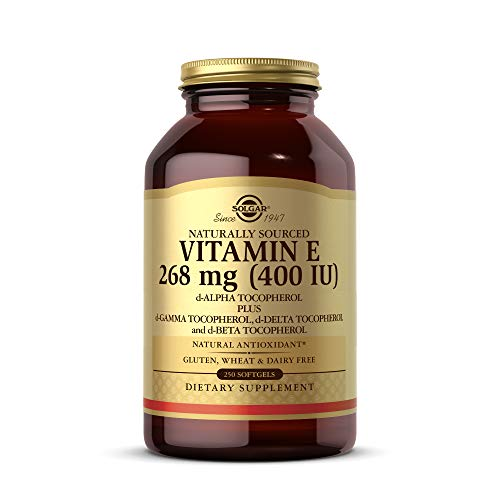 Solgar Vitamin E 268 mg (400 IU), 250 Mixed Softgels - Natural Antioxidant, Skin & Immune System Support - Naturally-Sourced Vitamin E - Gluten Free, Dairy Free - 250 Servings