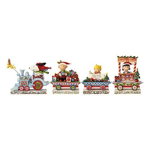 Enesco Jim Shore Peanuts Deluxe Train Figurines, 4.5', Multicolor