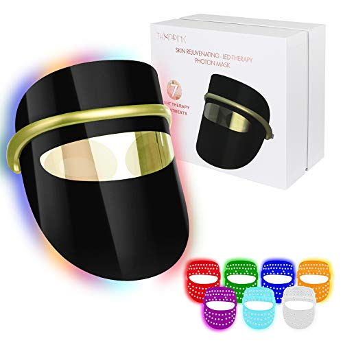 7 Colors LED Light Therapy Mask, LED Light Therapy Face Mask for Wrinkles Skin Rejuvenation Home Use