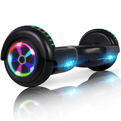 LIEAGLE Hoverboard, 6.5' Self Balancing Scooter Hover Board with UL2272 Certified Wheels LED Lights for Kids Adults Black