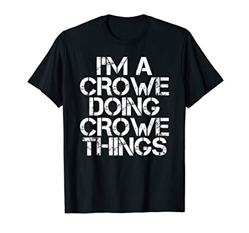 CROWE Funny Surname Family Tree Birthday Reunion Gift Idea T-Shirt