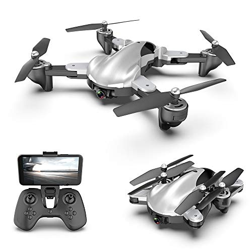 Drones with Camera for Adults, EMISK 1080P WiFi FPV Quadcopter Drone with Dual Cameras, Drones with Camera for Kids, 18mins Long Flight RC Foldable Drone RTF- Altitude Hold, APP Control, Follow Mode
