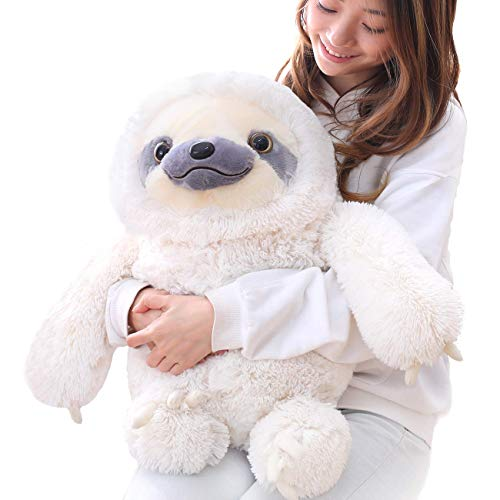Winsterch Kids Sloth Stuffed Animal Toy Plush Sloth Baby Doll Kids Birthday Gifts,Ivory 19.7 inches