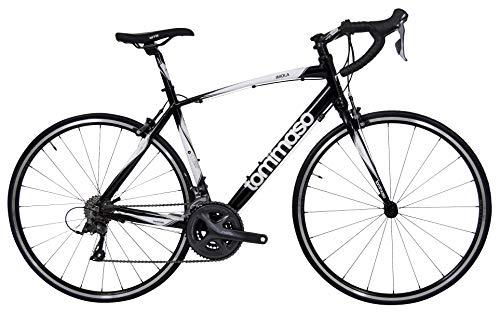 Tommaso Imola Endurance Aluminum Road Bike, Shimano Claris R2000, 24 Speeds - Black - Small