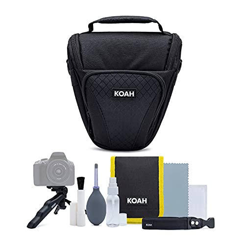 Koah Holster Camera Case and Accessory Bundle for DSLR, Mirrorless, and Camcorders