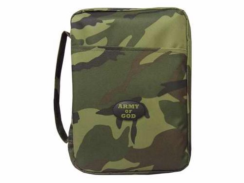 Canvas Bible Cover Army of God Green Camo Large