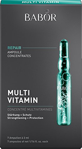 BABOR Multi-Vitamin Ampoule Serum Concentrates, Anti-Aging Retinol Serum to Strengthen and Protect, with Biotin and Vitamin A+E, Paraben Free