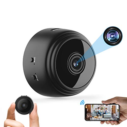 Mini Hidden Spy Camera WiFi Small Wireless Video Camera Full HD 1080P Night Vision Motion Sensor Support SD Card for iPhone Android Video Detection Security Nanny Surveillance Cam
