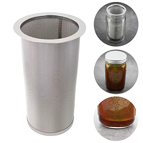 Cold Brew Coffee Filter for Wide Mouth Mason Jar, Food Grade 304 Stainless Steel, Ultra Fine Mesh, Tea and Fruit infuser, Iced Coffee Maker, Iced Tea Maker, Cold Brew Coffee Maker