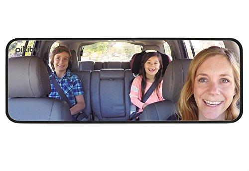 Pikibu 180-Degree View High Definition Clarity Baby Car Mirror, Black