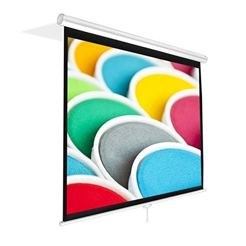 Pyle PRJSM7206 Universal 72-Inch Roll-Down Pull-Down Manual Projection Screen (42.5' x 56.6') Matte White