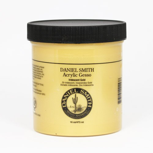 DANIEL SMITH 284040003 Acrylic Gesso 16oz, Iridescent Gold