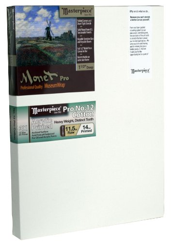 Masterpiece Artist Canvas 43871 Monet PRO 1-1/2' Deep, 36' x 72', Cotton 14.0oz - 3X - Sausalito Heavy Weight