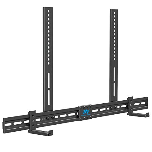 Mounting Dream Universal Soundbar Mount Sound Bar TV Bracket, Sound Bar Bracket for Soundbar with Holes/Without Holes, Non-Slip Base Holder Extends 3.4' to 6.1', Safe and Easy to Install MD5425