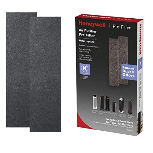 Honeywell Household Odor & Gas Reducing Pre-filter, 2 Pack, Black