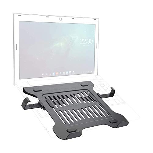GIBBON MOUNTS Laptop Tray for VESA Mount (Tray only), Hold up to 17.7lbs, with Retractable Slide Clip fits Most Laptop/Tablet