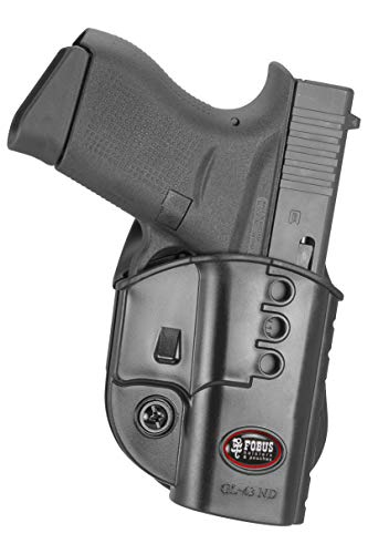 Fobus GL43ND Evolution Holster for Glock 43, Right Hand Paddle