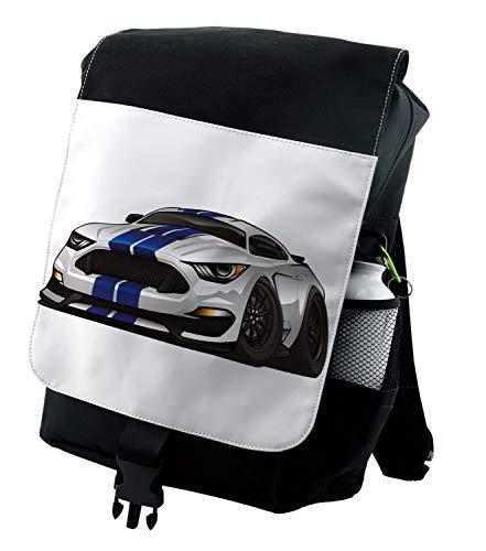 Lunarable Nursery Backpack, Muscle Race Rally Car, Durable All-Purpose Bag