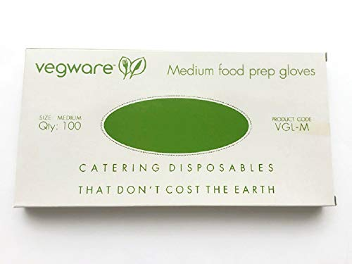 Compostable Food Prep Gloves – Disposable Latex-Free Gloves Made of Plant-Based PLA - Pack of 100; Medium – Your Perfect Partner in Hygienic, Eco-Friendly, and Safe Food Preparation - Plain/Natural Color
