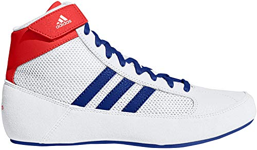 adidas HVC 2 Youth White/Red/Royal Wrestling Shoes 1.5