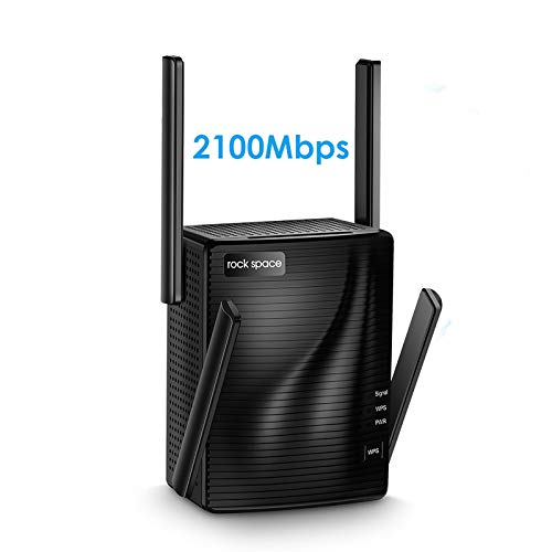 WiFi Range Extender - 2100 Mbps WiFi Extender,5G & 2.4G Dual Band WiFi Booster,WiFi Repeater,Gigabit Port,Coverage up to 1292sq.ft,Support Multiple Devices,Extends WiFi Range,Access Point for Home