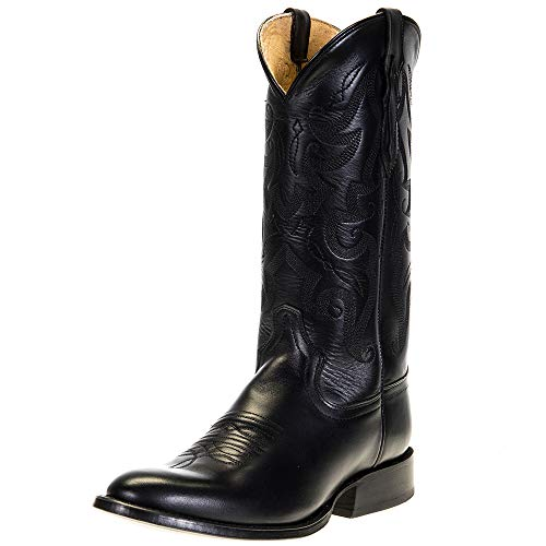 Tony Lama Men's Patron Western Boot Round Toe Black 12 EE