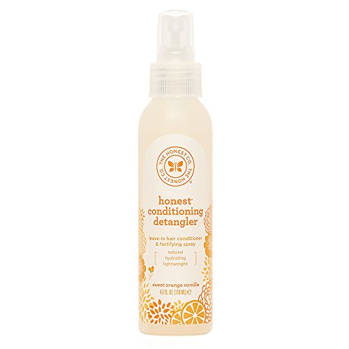 The Honest Company Sweet Orange Vanilla Conditioning Detangler Spray | Lightweight Leave-in Conditioner & Fortifying Spray | Paraben & Synthetic Fragrance Free | Plant-Based | VEGAN | 4 fl. oz.