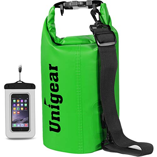 Unigear Dry Bag Sack, Waterproof Floating Dry Gear Bags for Boating, Kayaking, Fishing, Rafting, Swimming, Camping and Snowboarding (Green, 20L)