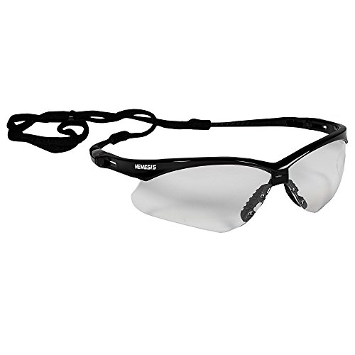 KleenGuard (formerly Jackson Safety) V30 Nemesis Safety Glasses (25676), Clear with Black Frame, 12 Pairs / Case,Black Frame with Clear Lens