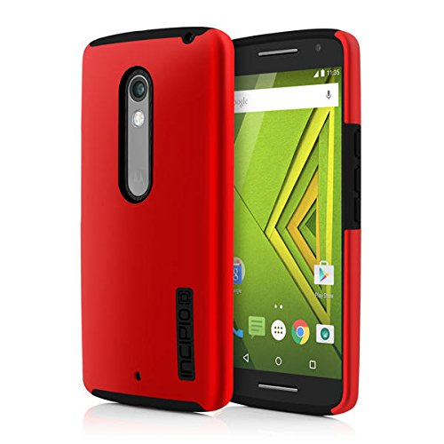 Motorola DROID Maxx 2 Incipio DualPro Dual-Layer Protective Case Cover Skin for  - Iridescent Red/Black - In Retail Package