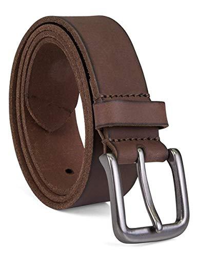 Timberland Men's Classic Leather Jean Belt, Dark Brown, 38