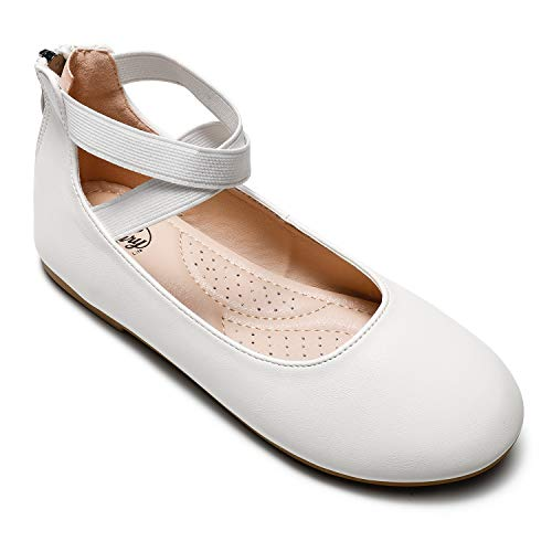 Trary Flats Shoes for Girls Rome White 11