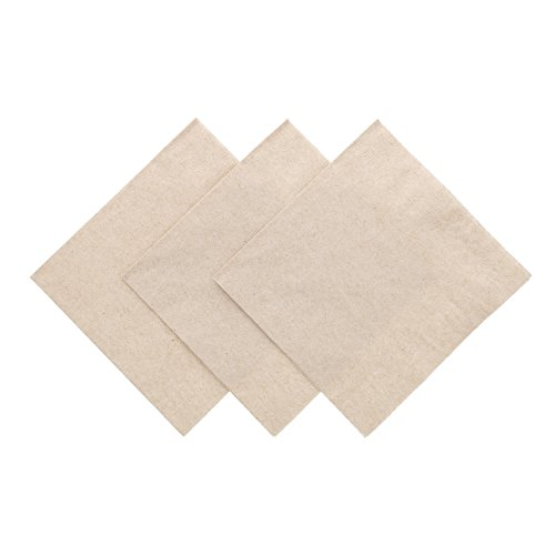 1 Ply Kraft 5 Inches x 5 Inches Beverage Napkins, Pack of 200