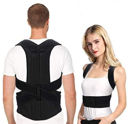 Back Brace Posture Corrector for Men and Women, Adjustable Full Lumbar Back Brace Belts for Slouching and Hunching to Improve Bad Posture Thoracic Kyphosis and Upper Back Pain Relief (Back Brace S)
