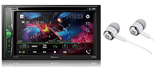 Pioneer in-Dash Double Din WVGA Display Built-in Bluetooth Multimedia DVD CD MP3 USB AM/FM Touchscreen Dual Phone Connection Car Stereo Receiver/Free Alphasonik Earbuds