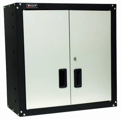 Homak 2 Door Wall Cabinet with 2 Shelves, Steel, GS00727021